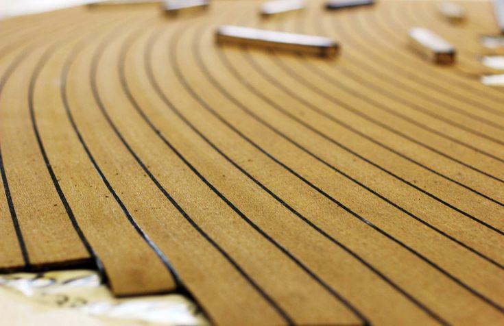 Vinyl Imitation Teak Boat Decking Bahrain Decking