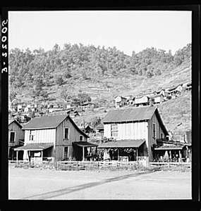 Coal mining town in Welch. Bluefield section of West Virginia..