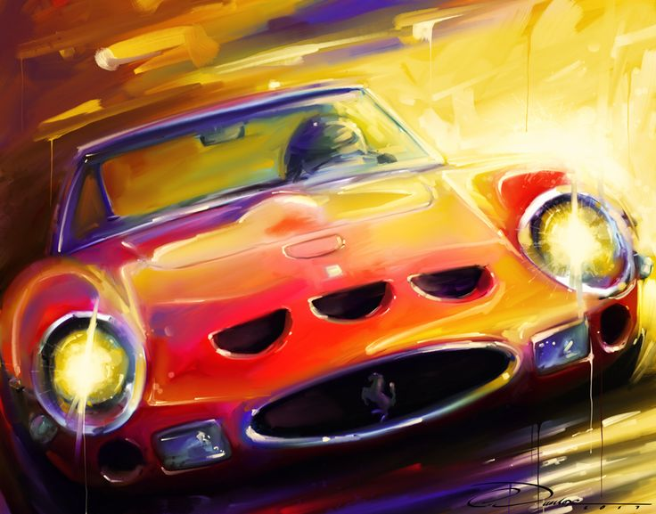 """""""Race to the Finish"""" Ferrari 250 Gto artwork/panting. Limited Edition Prints available at http://www.pinstripechris.com/racetothefinish"""