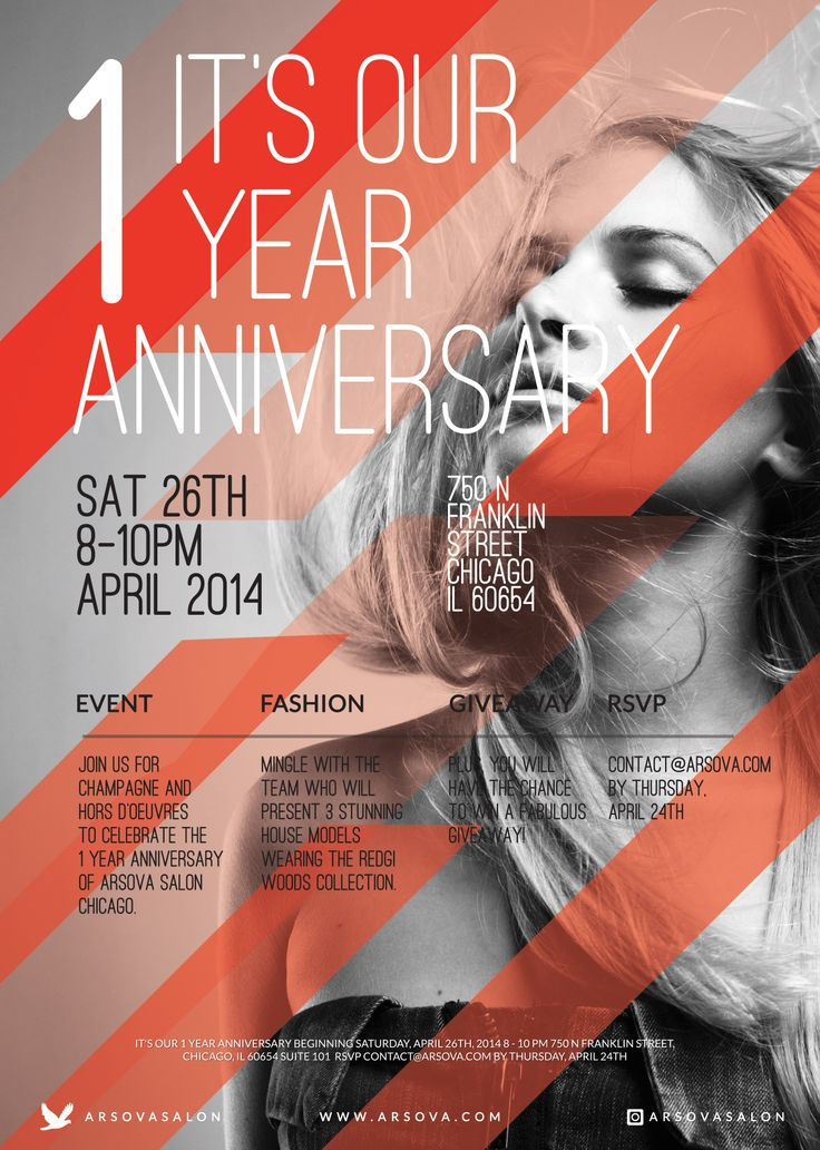 It S Our 1 Year Anniversary Flyer Www Arsova Com Promo