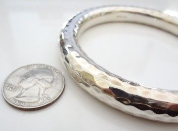 Silpada Sterling Silver Thick Round Hammered Bangle Bracelet B1653 Retired My Pinterest Jewelry Bracelets And