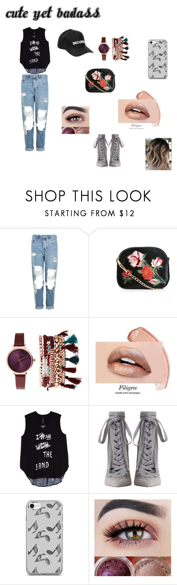 """""""Cute Yet Badass"""" by mikkiestyles ❤ liked on Polyvore featuring Topshop, New Look, Jessica Carlyle, Melissa McCarthy Seven7, Zimmermann, Music Notes, Vetements and plus size clothing"""
