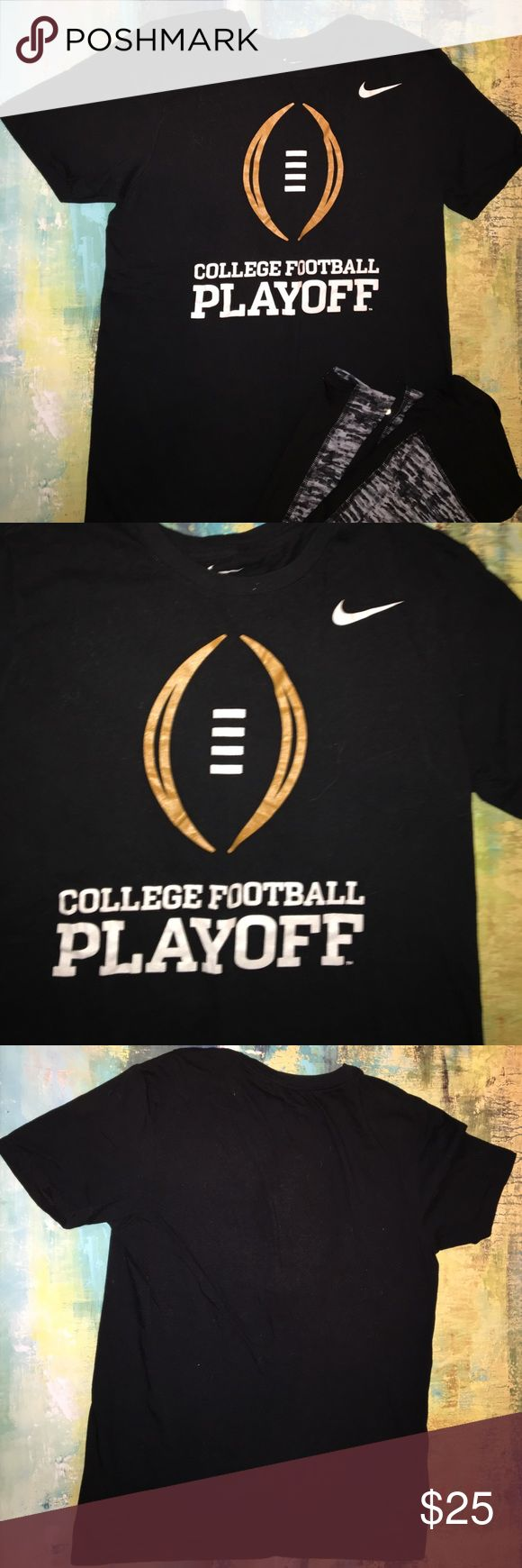 Nike College Football Playoff T-shirt Everyone who is a college football fan needs this tee on their closet. Originally purchase at the Alabama vs Clemson championship game in Arizona. Tops Tees - Short Sleeve