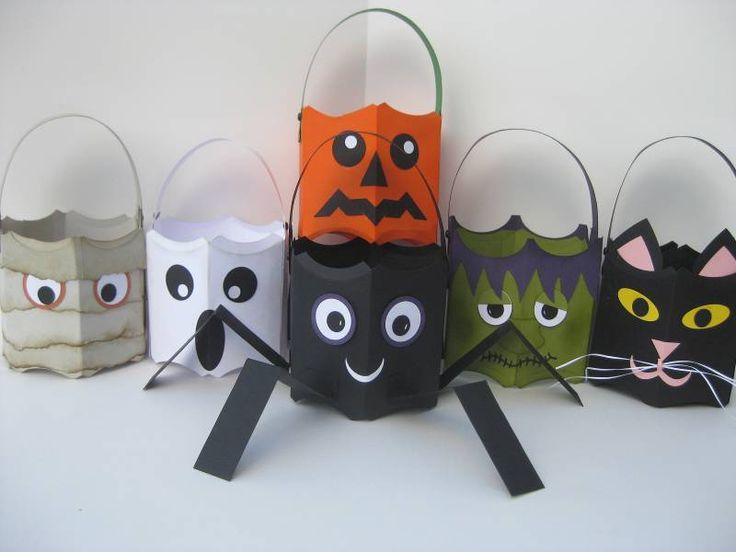 Stampin' Up!  Pillow Box Bucket  scrapbookevie  Halloween