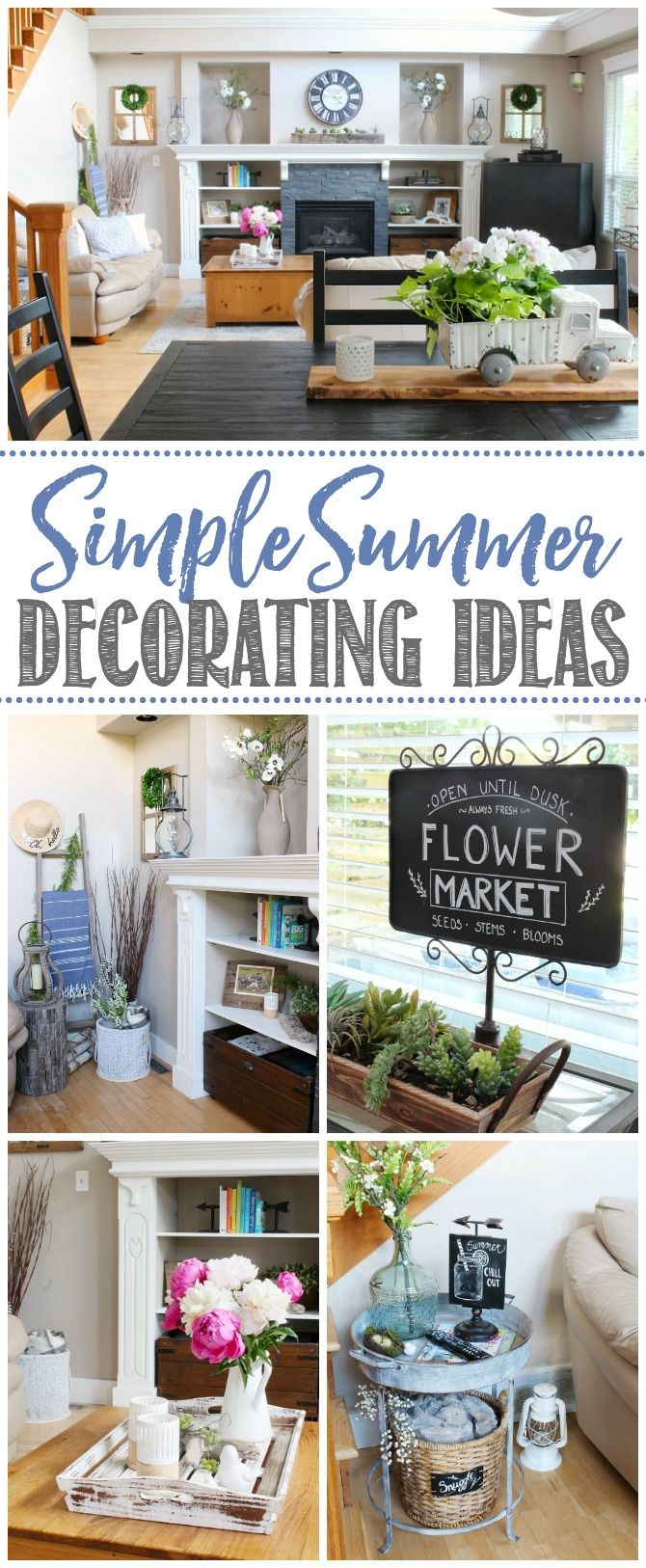 Modern Farmhouse Summer Living Room Decorating Ideas Clean
