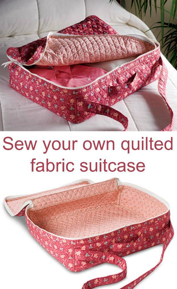 I need this. How to sew your own quilted fabric suitcase shoulder bag. Sewing pattern. Love the double sided quilted fabric used in this bag.