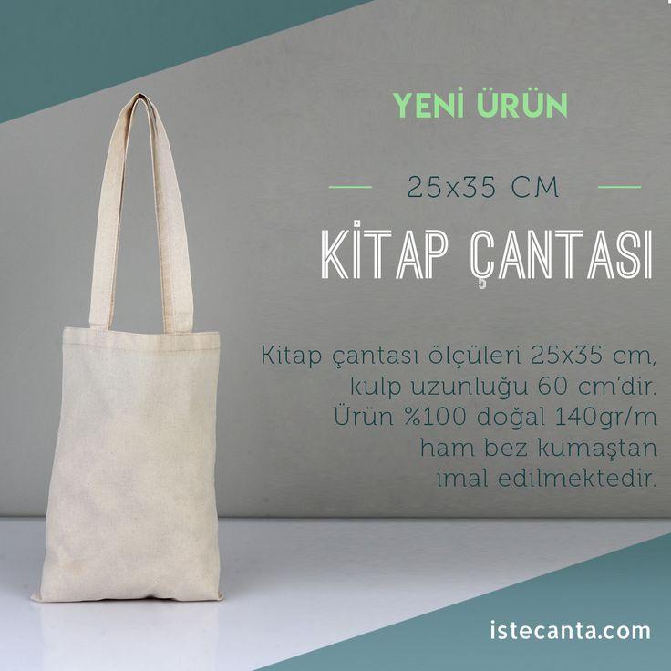 Kitaplarınızı bez çanta ile muhafaza edin! 25x35 cm ölçülerinde ham bez kitap çantası istecanta.com'da. #bezcanta #beztorba #kitapcantasi #hambez #toptan #totebag
