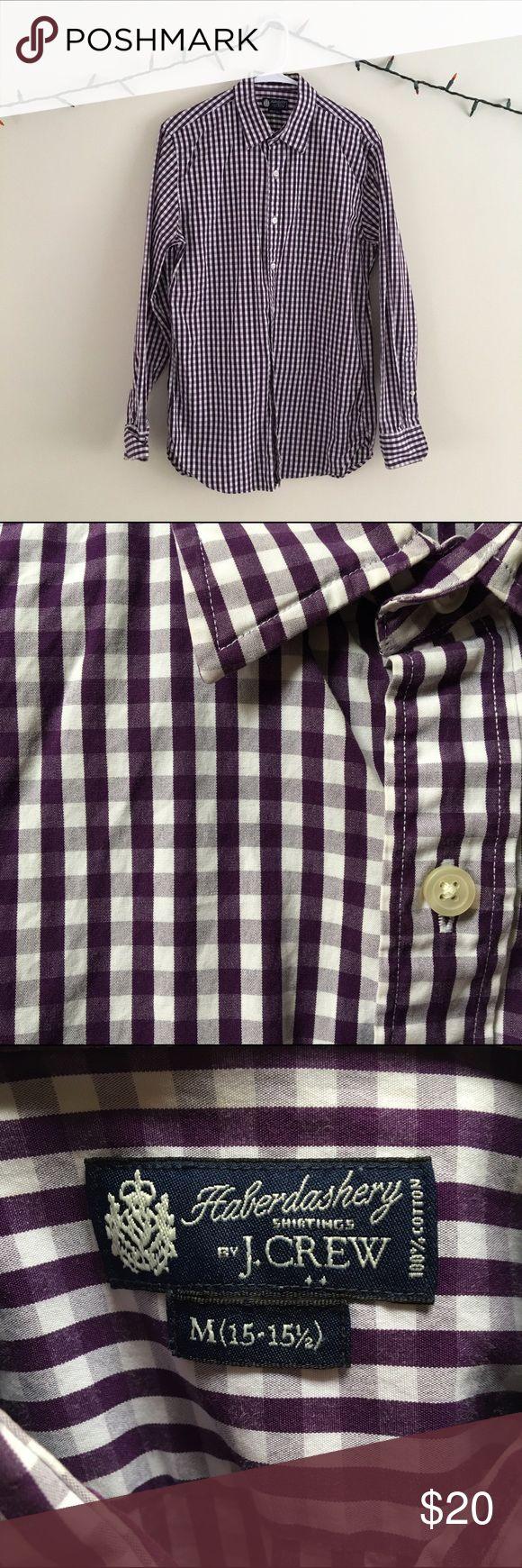Selling this Purple Checkered Collared Shirt on Poshmark! My username is: jazzhandshero. #shopmycloset #poshmark #fashion #shopping #style #forsale #J. Crew #Other
