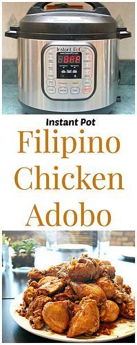 Instant Pot Filipino Chicken Adobo has got to be my most favorite comfort food of all time. The instant pot is a great way to make this in a fraction of the time! | Whats Cookin, Chicago?