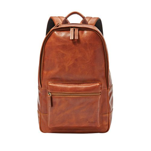 Fossil Estate Casual Leather Backpack Tan