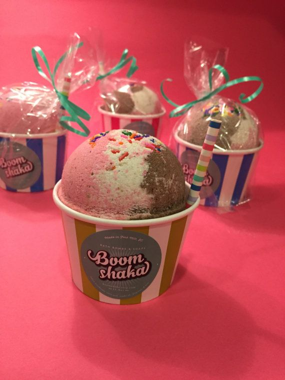 Bomba de baño heladería cucharada grande 115 oz por BoomShakaBomb