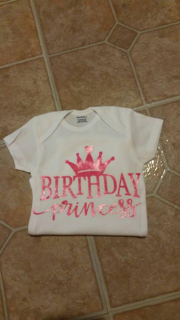 Birthday Princess Onesie, Birthday Shirt, Baby Girl