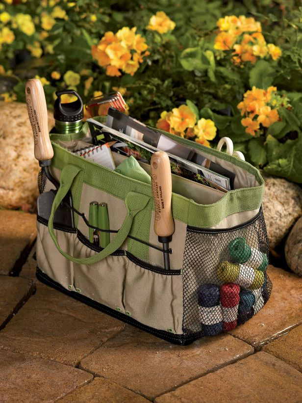 Gardening Gift Ideas gardening gift guide idea 10 tool set with folding seat and tote bag Gardeners Supply Company Puddle Proof Field Garden Bag