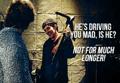 (gif) He's driving you mad, is he? Not for much longer.-- Aahahahaha Leon doesn't even know that he's being completely serious!