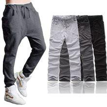 Feida Nueva Llegada 1 UNID Muchacho de Los Hombres Harem Holgado Hip Hop Danza Más Tamaño Sudor Pantalones Pantalones Pantalones Pantalones Envío Gratis y ventas al por mayor(China (Mainland))