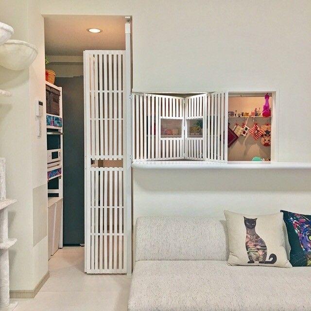 ネコ様の安全対策 キッチン侵入防止扉をdiy Limia リミア 室内窓