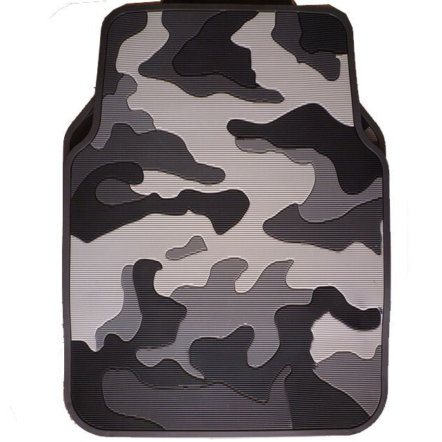 Personalised Camo Universal Auto Carpet Waterproof Car Floor Mats Rubber 5pcs Sets - Gray(China