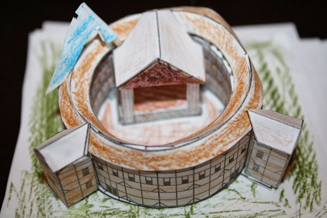 how to make a paper globe theatre