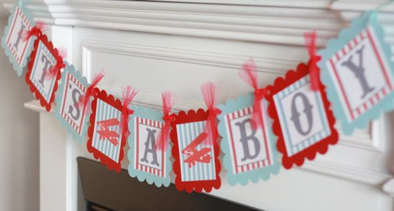 12 - Vintage Airplane Baby Shower Theme Cupcake or Cake Toppers- Ask About our Party Pack Sale. $12.00, via Etsy.