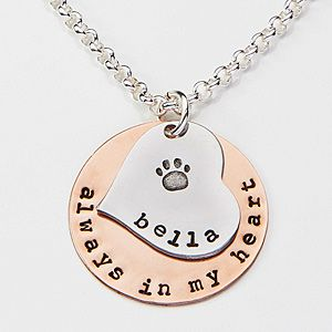 Create a heartfelt gift they'll love to wear with the Always In My Heart Personalized Pet Pendant Necklace. Find the best personalized jewelry gifts at PersonalizationMall.com