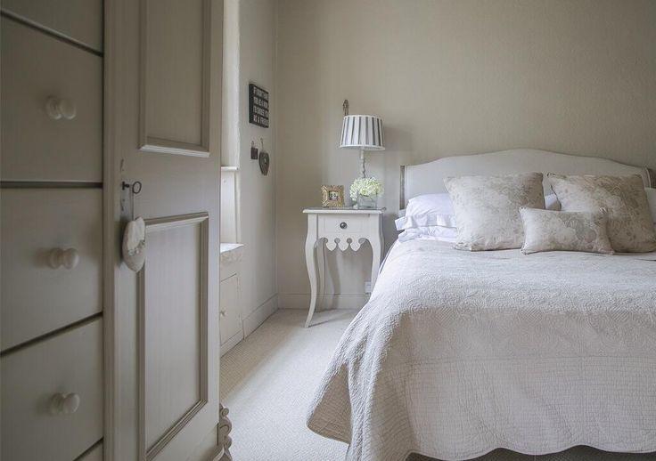 Bedroom using Kate Forman Fabrics