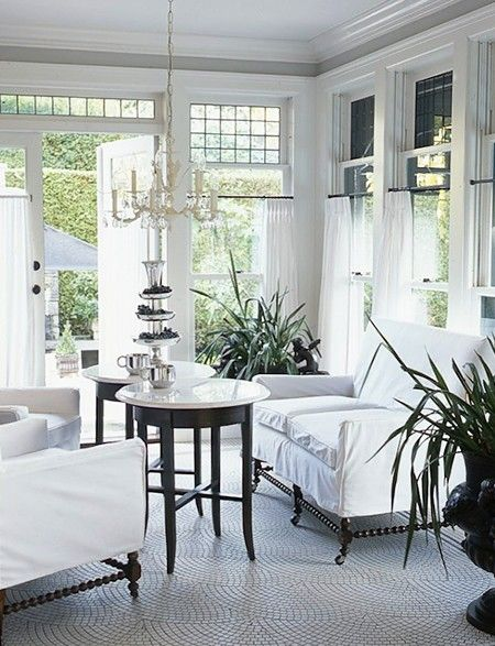 beautiful glassed-in porch