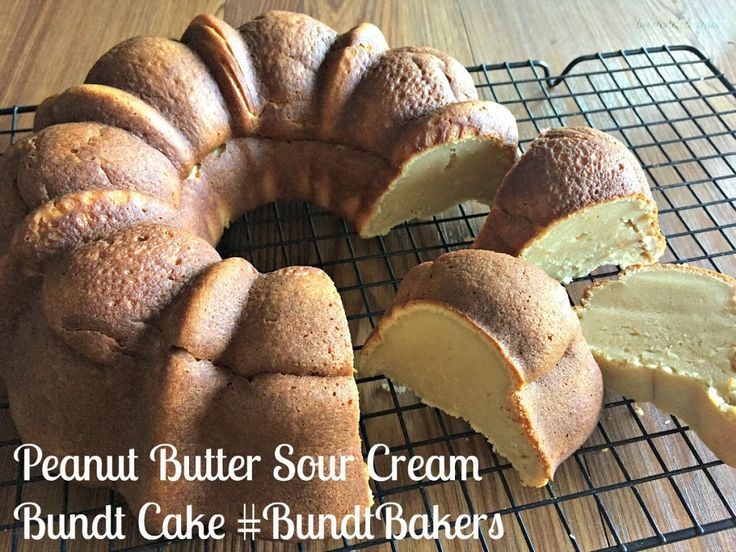 Peanut Butter Sour Cream Bundt Cake #BundtBakers Recipe on Yummly. @yummly #recipe