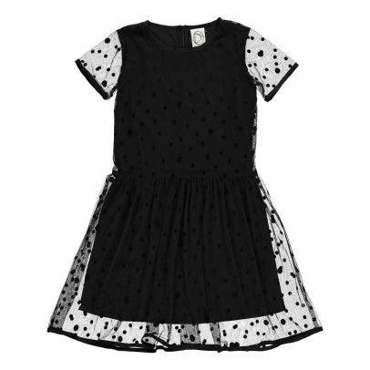 Exclusivité Dress Gallery x Smallable - Robe Tulle Pois Noir
