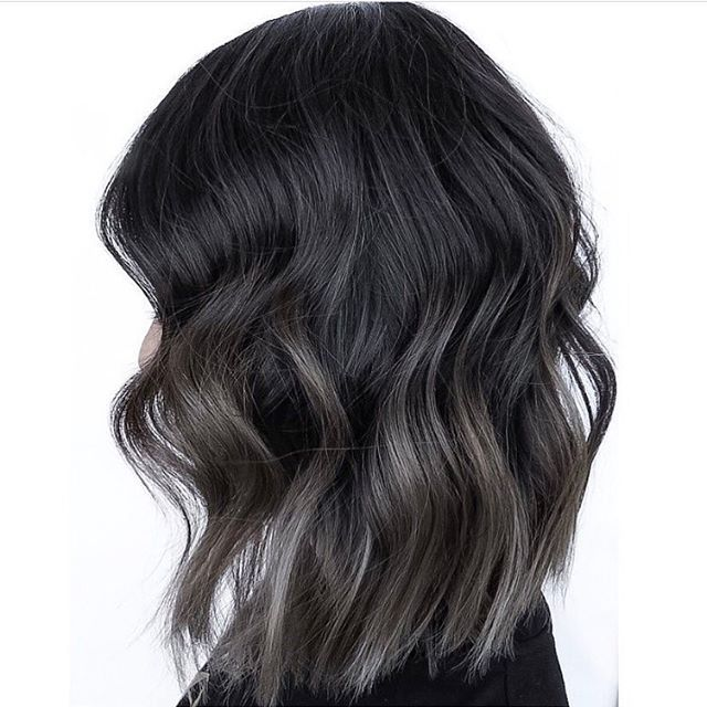 Steel Gray Blend. Color and cut by Annalise at @studiolioness  #hair #hairenvy #hairstyles #haircolor #brunette #balayage #colormelt #steelgray #newandnow #inspiration #maneinterest
