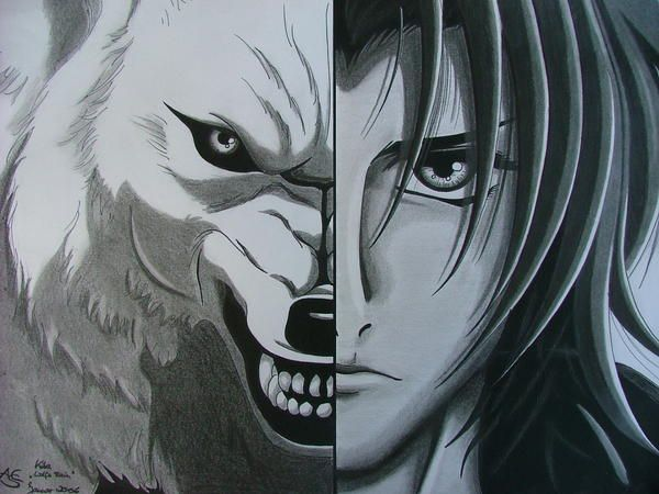 "Nangya, Kiba ""Wolf's Rain"" by MorgainePendragon.deviantart.com"