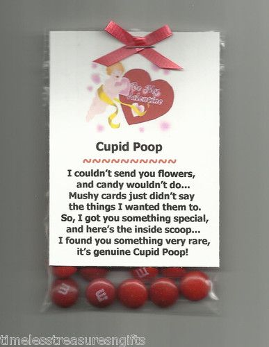 New Homemade Cupid Poop Valentines Day Candy Novelty Gag Gift w M