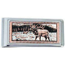 Elk Money Clip Rectangular
