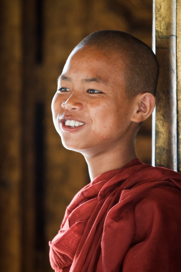Young monk at Shwe Yan Pyay Monastery, Myanmar.