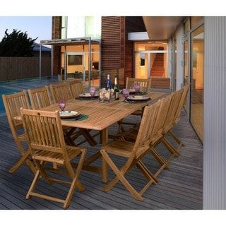 Shop for Amazonia Teak Toulouse 11-piece Teak Dining Set. Get free delivery at Overstock.com - Your Online Garden & Patio Shop! Get 5% in rewards with Club O! - 12596131