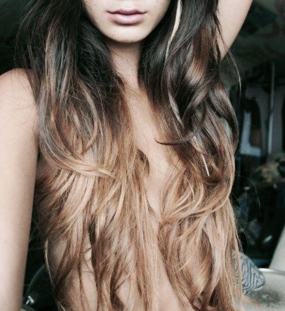 Dark Brown Hair with Light Blonde Ombre | Ombrés | Pinterest