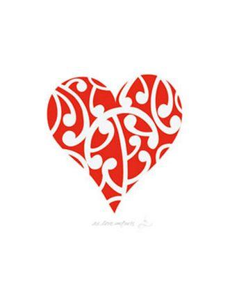 Unfurling Love heart - Red Ink Design
