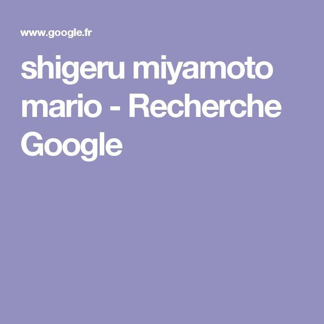 shigeru miyamoto mario - Recherche Google