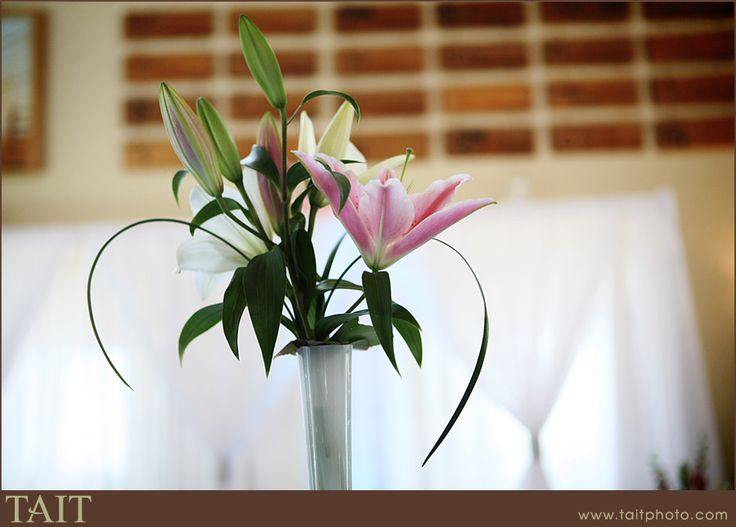 Pink Oriental Lily with Bear grass