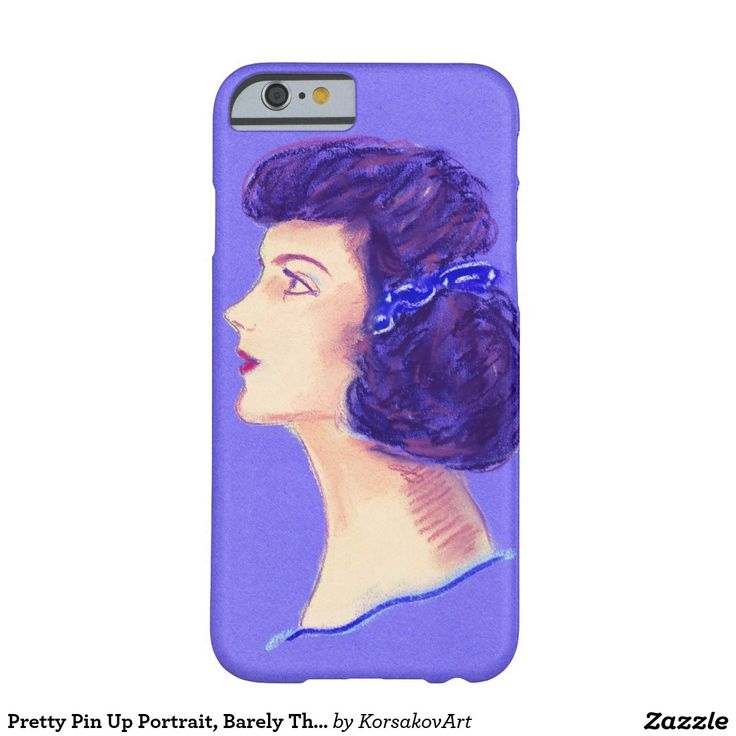 Pretty Pin Up Portrait, Barely There #iPhone 6 #Case #vintage #pinup #portrait