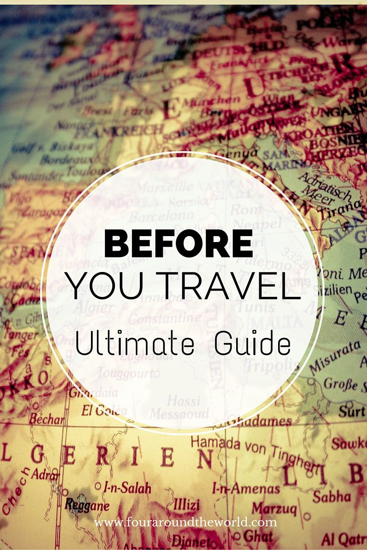 Before You Travel - the ultimate pre travel guide for a successful holiday