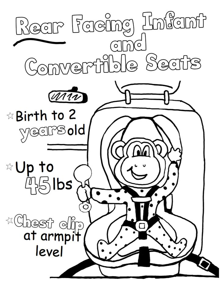 Check Out The Coloring Book We Designed For Western North Carolina Car Seat Safety Clinic
