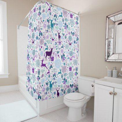 Merry Christmas Vintage Shower Curtain - vintage merry gifts custom diy idea