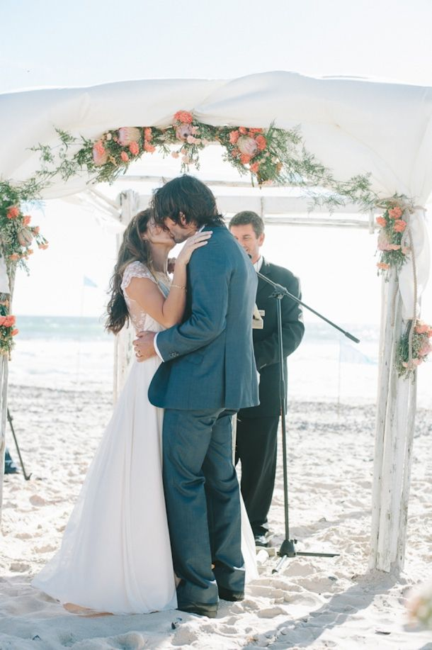 Incredible DIY Beach Wedding By Natural Light Photography
