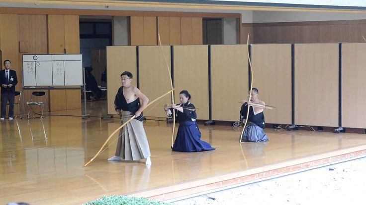 Kyudo 8-dan exam at Meiji Jigu