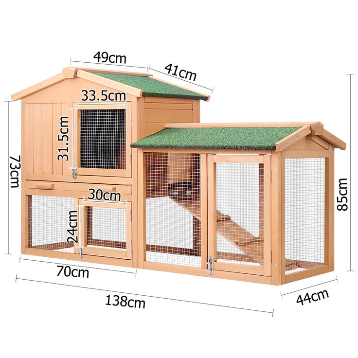 $137 Rabbit Hutch Guinea Pig House 2 Storeys Run Large | Buy Top Sellers