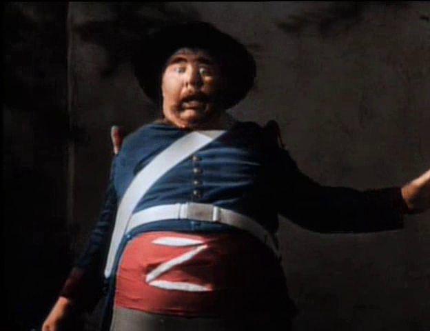 Henry Calvin como el Sargento Garcia en el Zorro