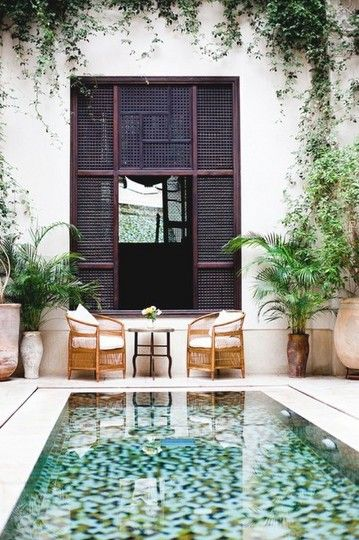 Outdoor - small pool: Small Pools, Pools Tile, Gardens, Backyard, House, Mosaics Tile, Outdoor Spaces, Outdoor Pools, Courtyards