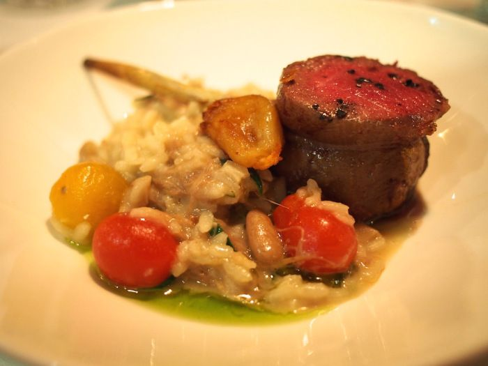 Gluttony - Chubby cutlet, risotto of white wine braised lamb neck, belly and shank...tarragon, tomato and loads of garlic