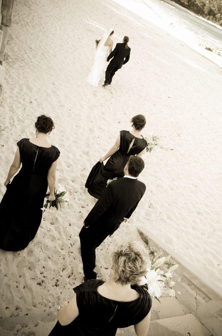 Walking onto the sand at Balmoral