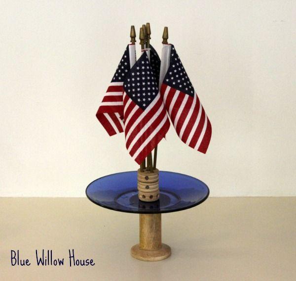 standing flag